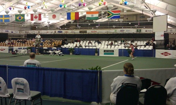 Stadium Seating at the Dow Corning Tennis Classic