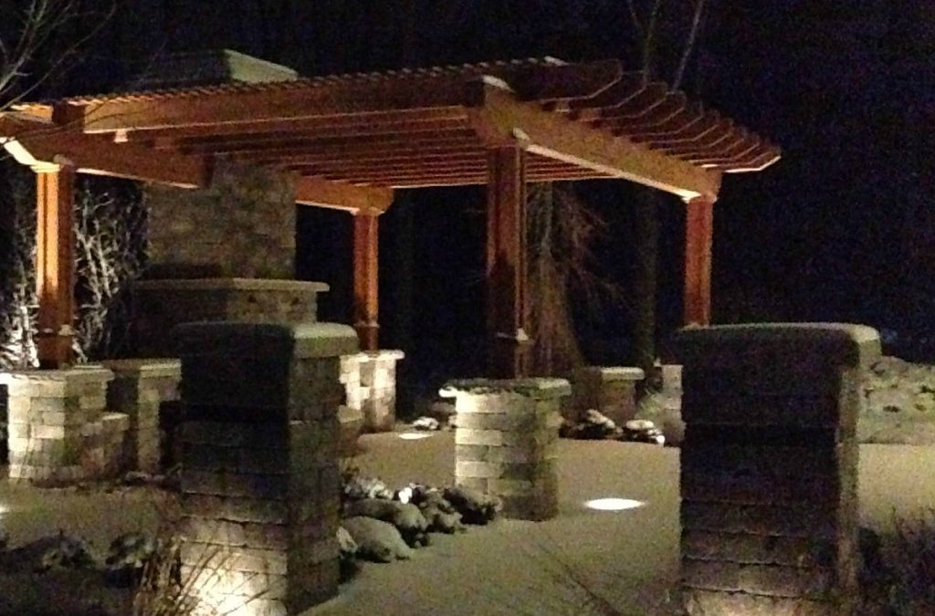 Landscape Lighting Beautifully Brightens a Winter Garden
