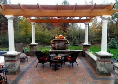 Patio Structure with Fireplace Water and Jacuzzi